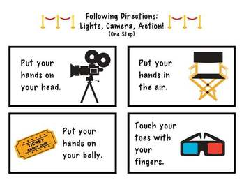 Following Directions: Lights, Camera, Action!