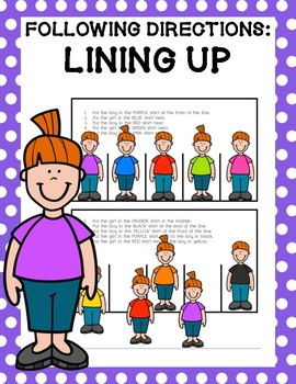 Following Directions: Lining Up Kids