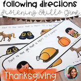 FOLLOWING DIRECTIONS | THANKSGIVING SPEECH AND LANGUAGE ACTIVITIES
