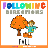 Following Directions: Listening Skills Worksheets for FALL