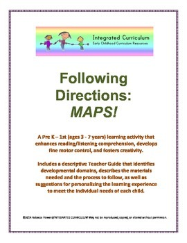 Following Directions: Maps (PreK - 1st Listening Comprehension)