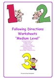 Following Directions - Medium Level - mixed