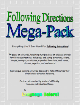 Following Directions Mega-Pack