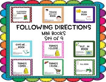Following Directions Mini Book Set