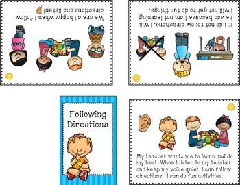 Following Directions Mini Social Story Set