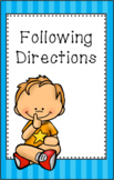 Following Directions Mini Social Story Set