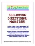 Following Directions: Monster (Pre K - K Listening Comprehension)