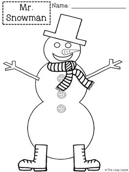 Following Directions- Mr. Snowman