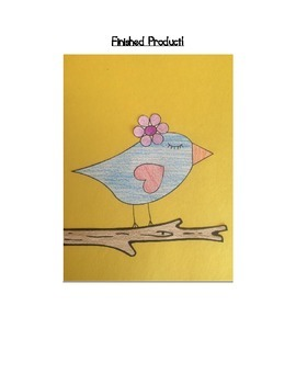 Following Directions Mystery Picture: Love Bird