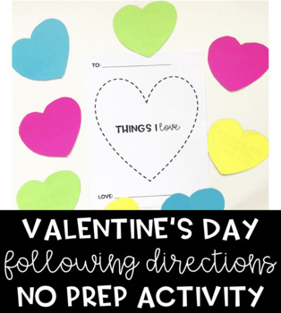 Following Directions NO PREP Valentine's Day Activity