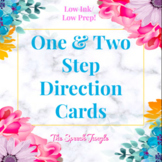 Following Directions │One & Two Step Direction Cards #july2021halfoffspeech