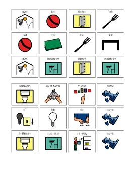 Following Directions Picture Communication Symbols (Word)