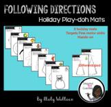 Following Directions Play-doh Holiday Mats