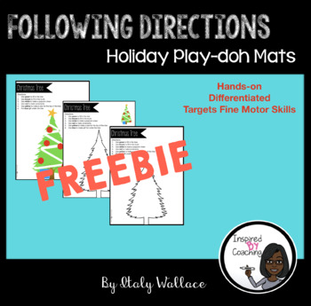 Following Directions Play-doh Holiday Mats
