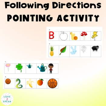 Following Directions Pointing Activity