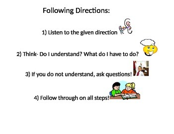 Following Directions Poster