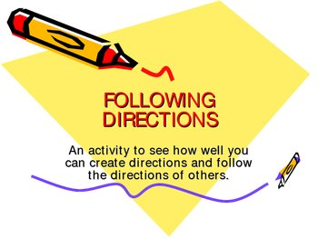 Following Directions Power Point