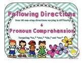 Following Directions & Pronoun Comprehension: Receptive Language for Spring