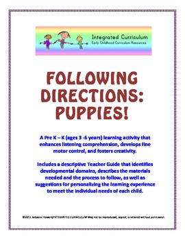 Following Directions: Puppies (Pre K - K Listening Comprehension)