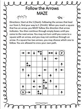 Following Directions Puzzles - Fun Test Prep or End of Year Activity