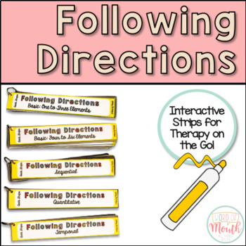 Following Directions Quick Strips