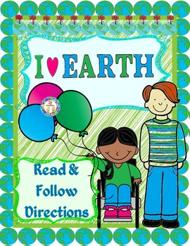 Earth Day Following Directions Reading Activity