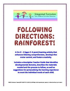 Following Directions: Rainforest (Pre K - K Listening Comprehension)