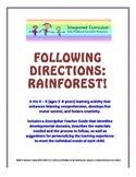 Following Directions: Rainforest (Pre K - K Listening Comp