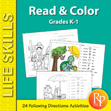 Following Directions: Read & Color