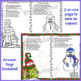 Read and Color to Follow Directions Activities for January Snowman  NO PREP