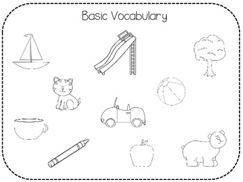 Following directions coloring pages ~ Following Directions & Receptive Language: Black and White ...