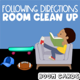 Following Directions : Room Clean Up | Boom Cards | Speech