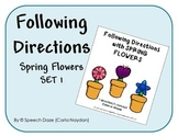 Following Directions SPRING FLOWERS Set 1