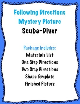 Following Directions: Scuba Diver Mystery Picture