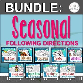 Following Directions Seasonal BUNDLE