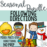 Following Directions Seasonal Bundle- Mixed directions for Speech Therapy