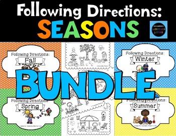 Following Directions: Seasons BUNDLE