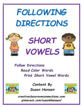 Following Directions: Short Vowels Edition