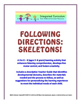 Following Directions: Skeletons (Pre K - K Listening Comprehension)