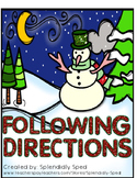 Following Directions--Snowman/Winter themed