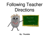 Following Directions Social Story
