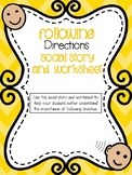 Following Directions Social Story-For Special Education an