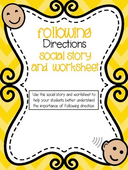 Following Directions Social Story, Q & A + Rules