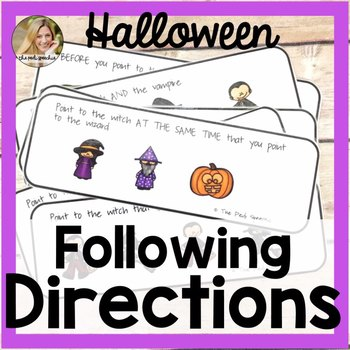 Following Directions | Speech Therapy Halloween