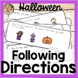 Following Directions | Speech Therapy Halloween | Halloween Following Directions