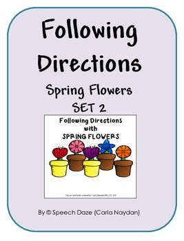 Following Directions SPRING FLOWERS Set 2