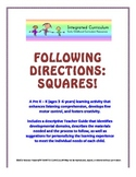 Following Directions: Squares (Pre K - K Listening Comprehension)