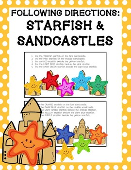 Following Directions: Starfish & Sandcastles