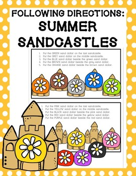Following Directions: Summer Sandcastles
