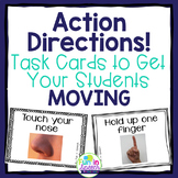 Following Directions Task Cards to Get your Students MOVING!
